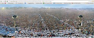 Masses at a Buhari rally - No impact really