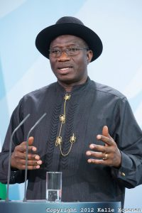 President Goodluck  Jonathan, immediate past Nigerian preident