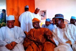 (R-L) Gowon, Obasanjo & IBB just being human