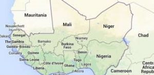 The map of Nigeria & her neighbours