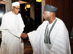 Buhari shaking Obasanjo and bringing the era of the strong ruler to a close in  Nigeria ?