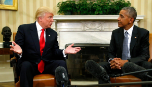 Obama: scrutinising or apprehensive of Trump in the wake of Trump's stunning victory ?