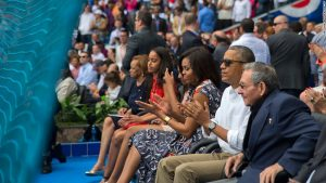 The Obamas during a March 2016 trip to Cuba, the first by a US president in almost a century