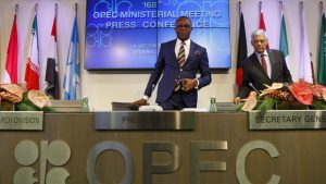 Nigeria's Oil Minister, Ibe Kachikwu at a previous OPEC meeting before yesterdays