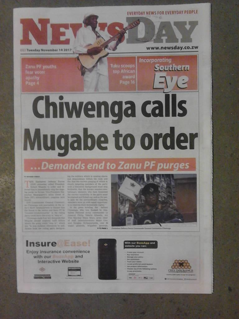 End of Mugabe in Zimbabwe?