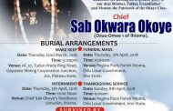 Chief Sab Okwara Okoye and Burial as Re-enactment