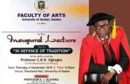 Inaugural Lecture Gets University of Ibadan Stirring