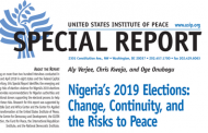 Nigeria's 2019 Elections: Change, Continuity, and the Risks to Peace