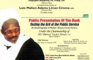 Book on Liman Ciroma for Public Presentation