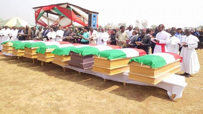 PDP Buries Its Benue Accident Victims