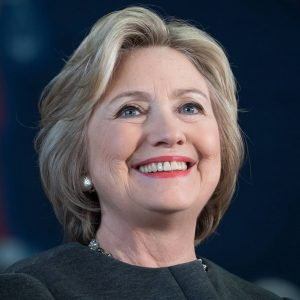 Aspiring leader Hilary Clinton