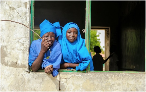 Girls at Galtimari Primary School, Maiduguri