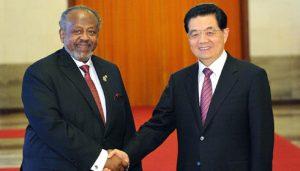 Chinese and Djibouti presidents