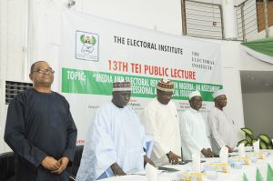 Standing up for the Nation - Prof Agbaje;Alh Baba Shettima Arfo;Modibbo Kawu;Mohammed Haruna and one other VIP