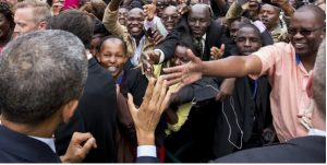 US President Barack Obama during his visit to Kenya in July 2015