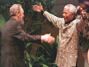 Another of Mandela and Castro