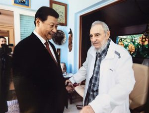 Chinese President Xi Jinping with Castro