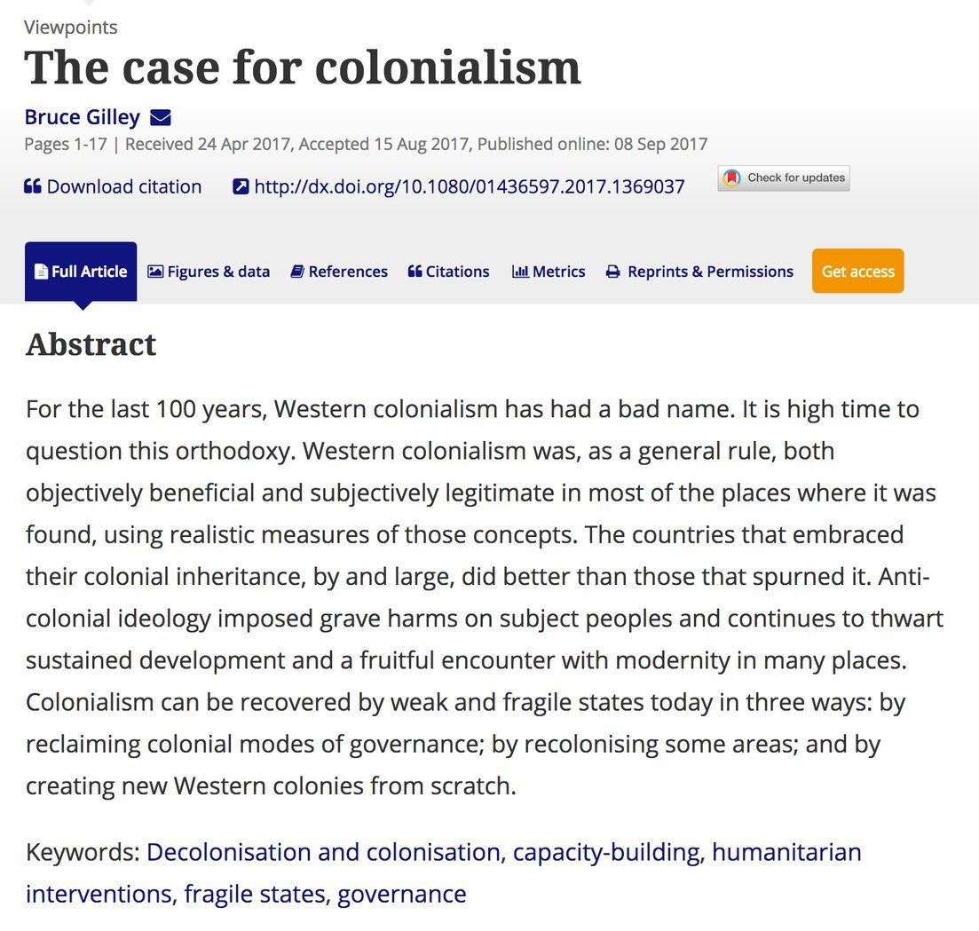 Professor Advocating Re-colonisation Retains Article Despite Apologizing