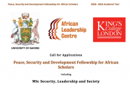 Fully Funded London Fellowship for African Scholars of Leadership and Security