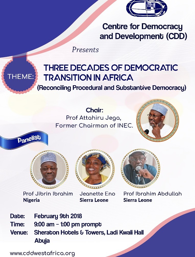 February 9th, 2018 for the Big Question: 'What Has 3 Decades of Democracy Brought to Africa?