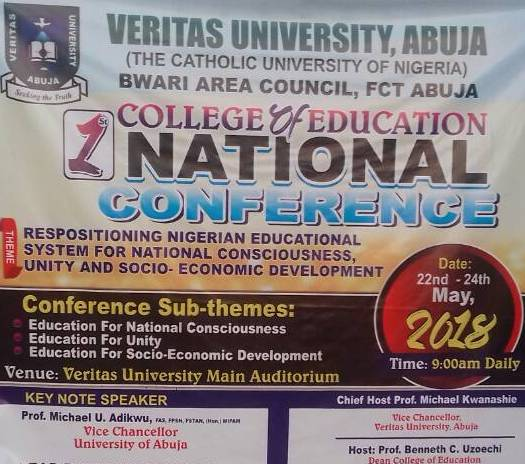 How To Reposition Education In Nigeria Uniabuja Vc