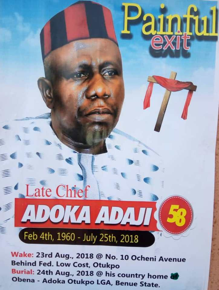 Adoka Adaji was, Indeed, a Leader