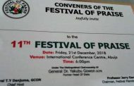 Gowon, TY Danjuma, Gana, Others for 11th Abuja Festival of Praise