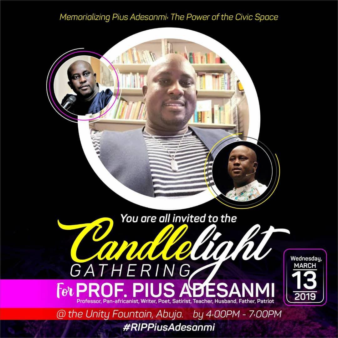 Homeage to Prof Pius Adesanmi