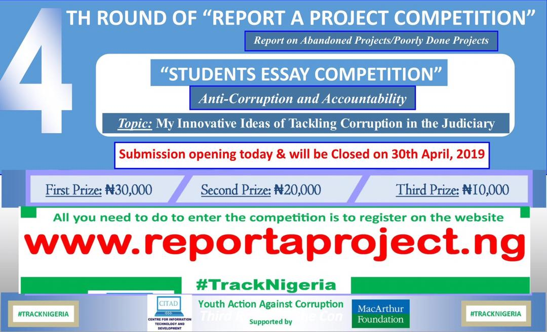 Undergraduates Dodging Writing on Corruption in CITAD Essay Competition?