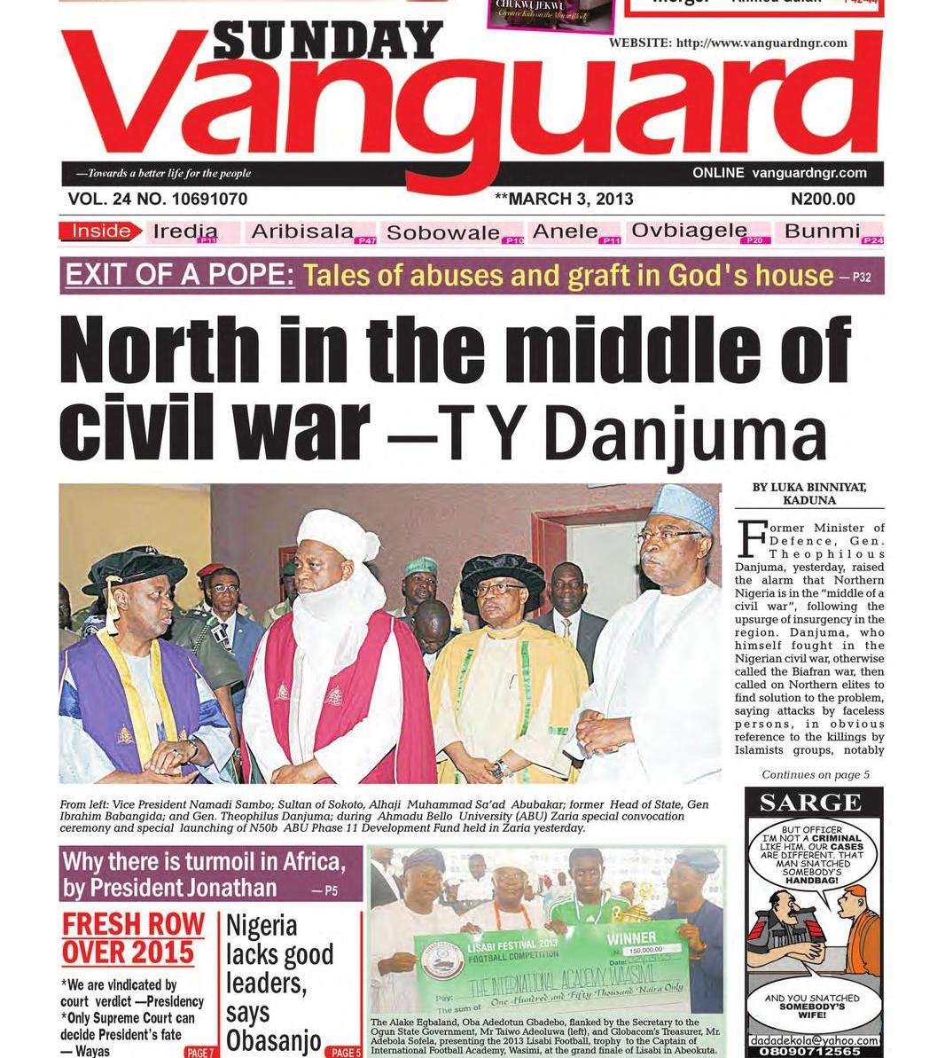 Mapping the Changing Phases, Phrases and Fortunes of the Northern Elite Up to the Era of Banditry (3)