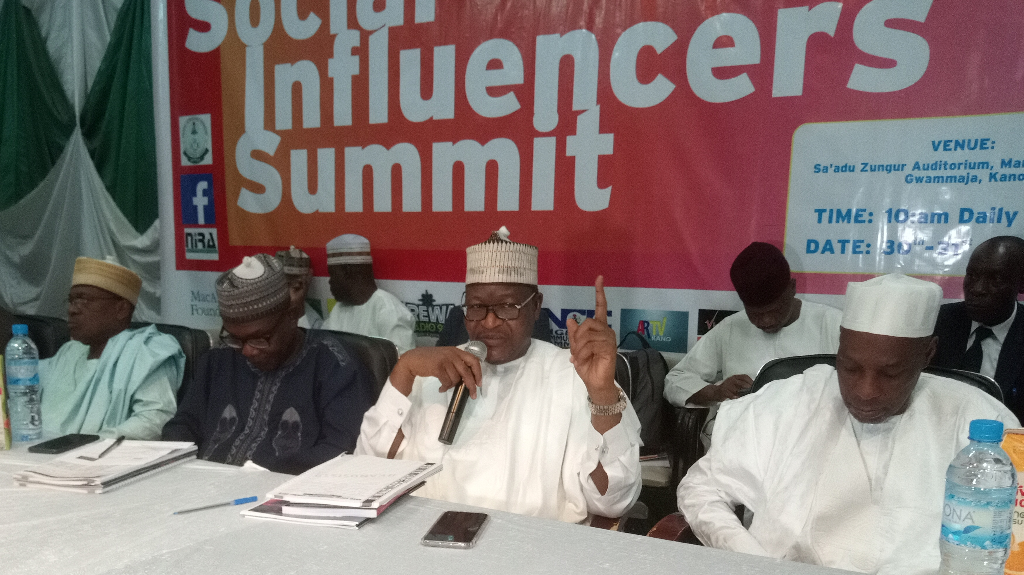 Social Influencers Bombard NCC Boss at Kano Conference Over Perceived Failure to Track Kidnappers