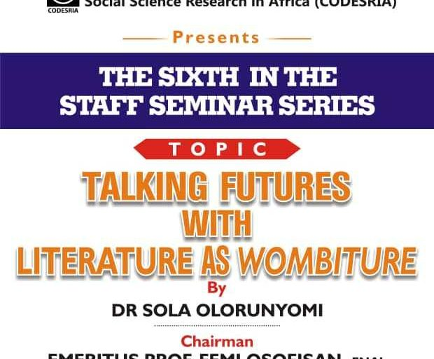 Awaiting Prof Sola Olorunyomi's Wombiture
