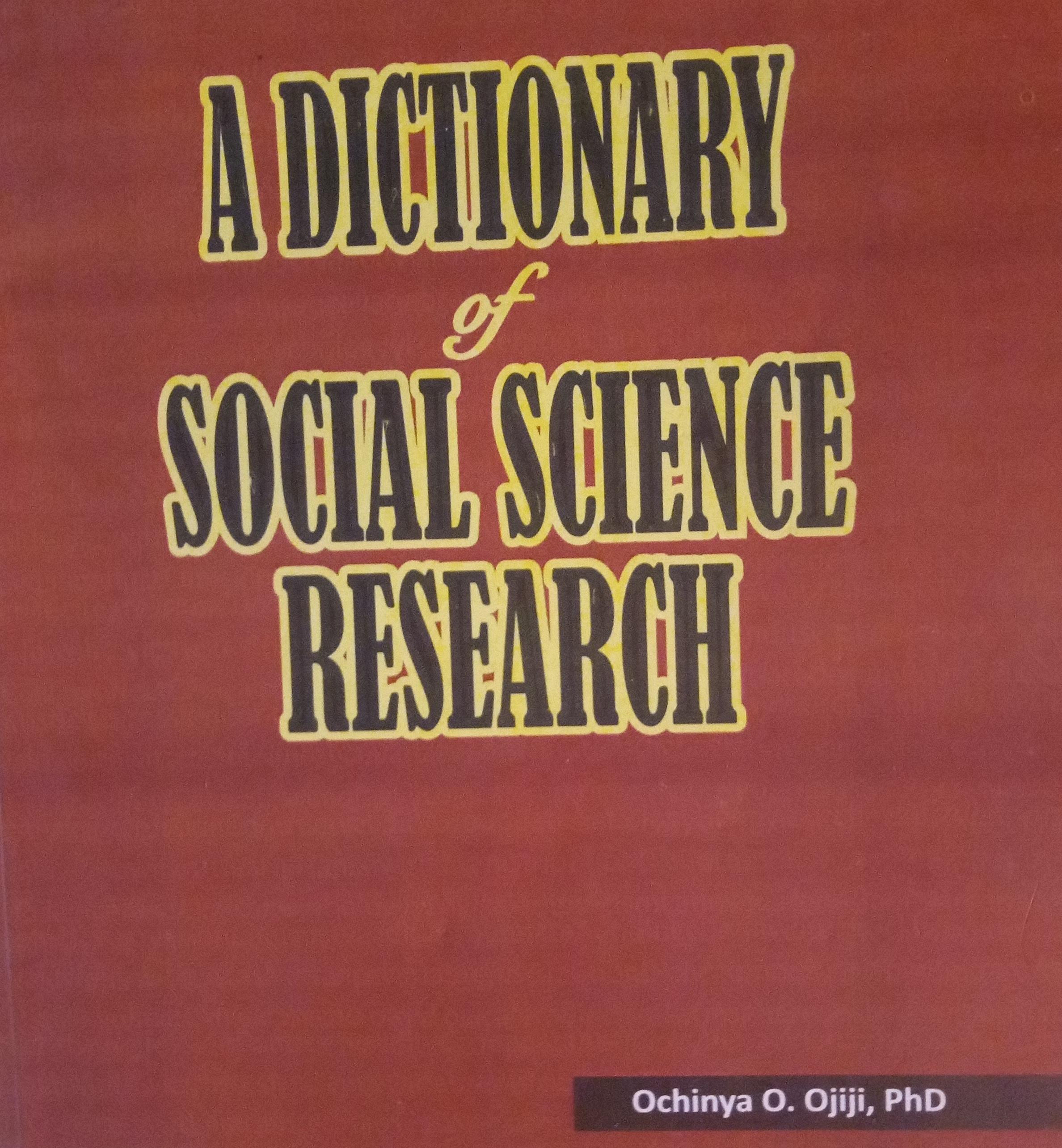 Prof Ochinya Ojiji's Parting Shot for Nigerian Social Science