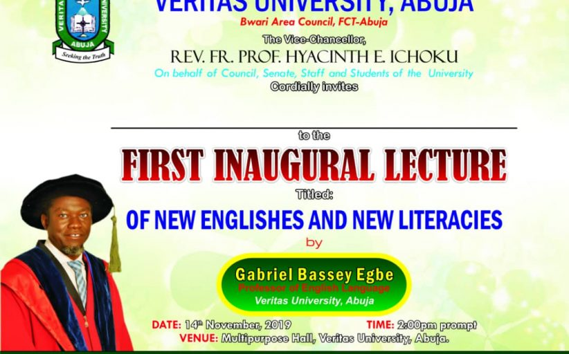 Inaugural Lecture With a Difference @ Veritas University, Abuja