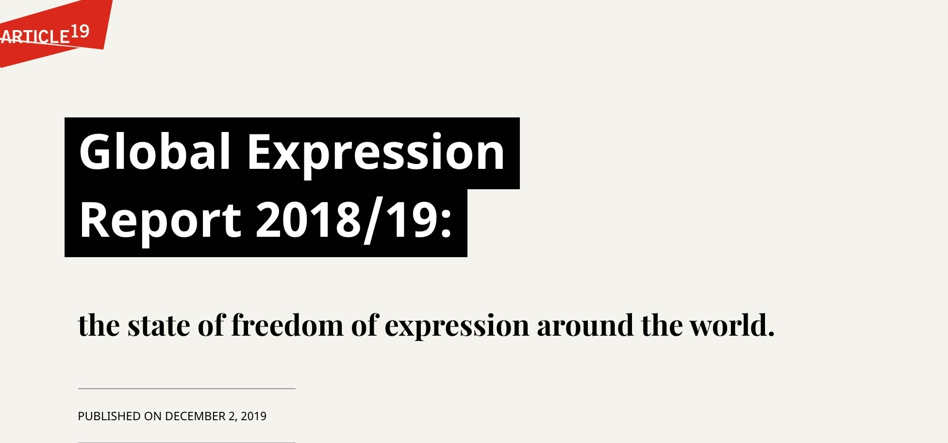 Freedom of Expression in Catastrophic, Decade Long Low Across the World