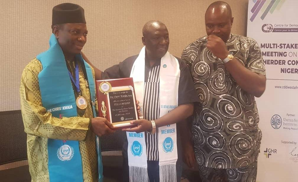 Dr Chris Kwaja's Moment in Peace Scholarship