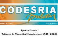 CODESRIA Devotes Bulletin to Late Thandika Mkandawire