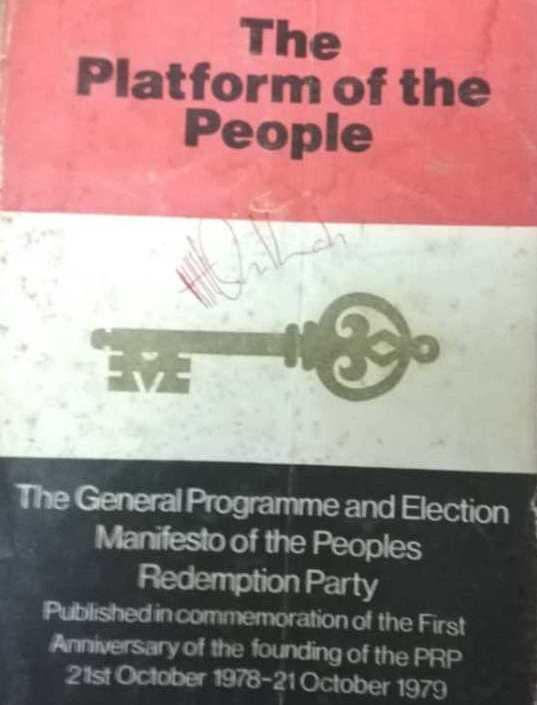 Updated Version - Nigeria's People's Redemption Party, (PRP), Declares Itself Government-in-Waiting