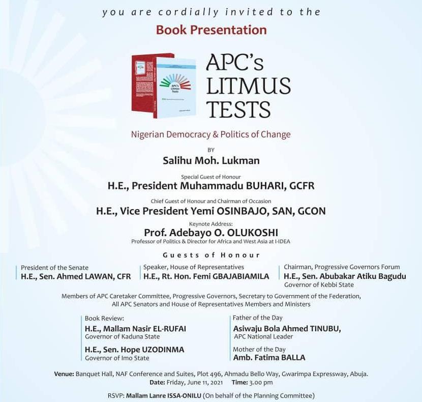 The Challenge of Comrade Salihu Lukman's Newest Book