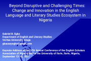 The Strategic Salience of Prof Gabriel Egbe's Language Game